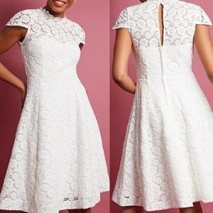 Modcloth happily ever Laughter retro wedding dress